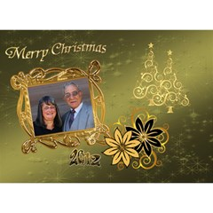 Merry Christmas 2012 3d Card Template By Ellan   Heart 3d Greeting Card (7x5)   S00bvpw6nt54   Www Artscow Com Front