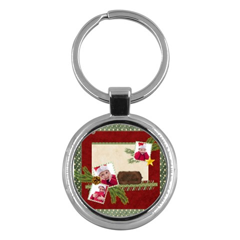 Xmas By Jacob   Key Chain (round)   3ap95bowfwh5   Www Artscow Com Front