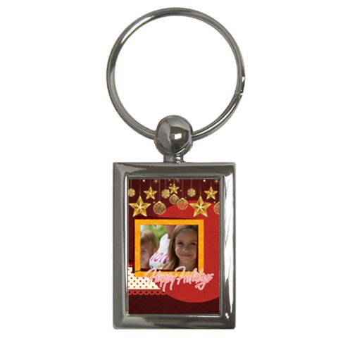 Xmas By Jacob   Key Chain (rectangle)   Qiyvcq8u26ks   Www Artscow Com Front