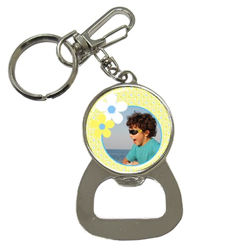Sunny Days Bottle Opener Key Chain By Deborah   Bottle Opener Key Chain   Viei8zdis9tc   Www Artscow Com Front