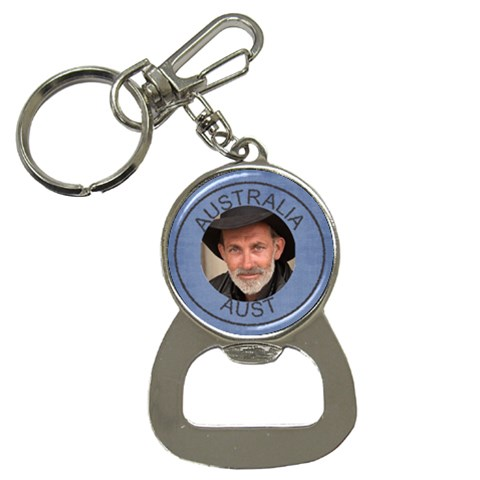 Aust Bottle Opener Key Chain By Deborah   Bottle Opener Key Chain   Nmwafrbwgmy5   Www Artscow Com Front