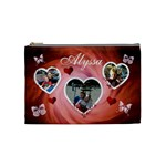 Cosmetic Bag (Medium) - Hearts & Butterflies