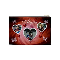 Cosmetic Bag (medium)   Hearts & Butterflies By Lmw   Cosmetic Bag (medium)   Ow6gmdbkag42   Www Artscow Com Back