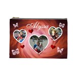 Cosmetic Bag (Large) - Hearts & Butterflies