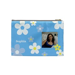 Daisy Cosmetic Bag (medium) By Deborah   Cosmetic Bag (medium)   5z6l6yzztuka   Www Artscow Com Back