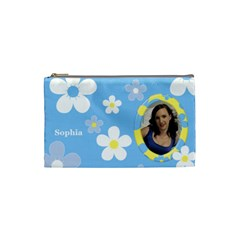 Daisy Cosmetic Bag (small) By Deborah   Cosmetic Bag (small)   Prfjxlbllbsw   Www Artscow Com Front