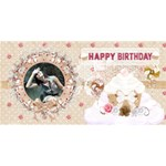 vintage birthday card - Happy Birthday 3D Greeting Card (8x4)
