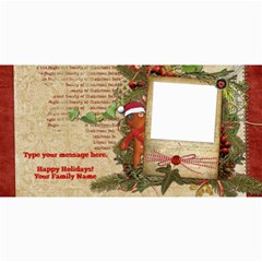 Christmas Gingerbread Photo Card By Denise Zavagno   4  X 8  Photo Cards   Nhjt2rag2ifb   Www Artscow Com 8 x4 Photo Card - 2