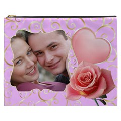 Pink Sweet Love Cosmetic Bag Xxxl By Deborah   Cosmetic Bag (xxxl)   Fwiprdc3g6rs   Www Artscow Com Front