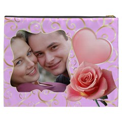 Pink Sweet Love Cosmetic Bag Xxxl By Deborah   Cosmetic Bag (xxxl)   Fwiprdc3g6rs   Www Artscow Com Back