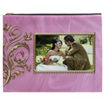 Pink and Gold Cosmetic Bag XXXL - Cosmetic Bag (XXXL)