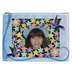 Flower And Humming Bird Cosmetic Bag (xxl) 2 Sides By Kim Blair   Cosmetic Bag (xxl)   L6cpx35l4yy1   Www Artscow Com Front