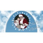 Snowflake Christmas 3D Card - Merry Xmas 3D Greeting Card (8x4)