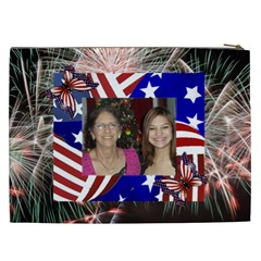 Fireworks Cosmetic Bag (xxl) 2 Sides By Kim Blair   Cosmetic Bag (xxl)   Medeah9gf6wu   Www Artscow Com Back