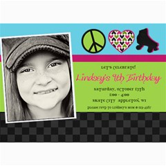 Roller Skate Birthday Invitation By Lana Laflen   5  X 7  Photo Cards   68t6kfonw3eq   Www Artscow Com 7 x5 Photo Card - 3