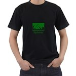Splotter T-Shirt Black with Green - Black T-Shirt (Two Sides)