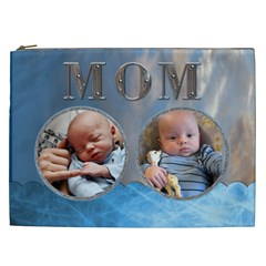 Mom Blue Xxl Cosmetic Bag By Lil    Cosmetic Bag (xxl)   Rbgta1gpye6r   Www Artscow Com Front