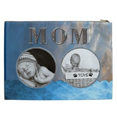 Mom Blue Xxl Cosmetic Bag By Lil    Cosmetic Bag (xxl)   Rbgta1gpye6r   Www Artscow Com Back