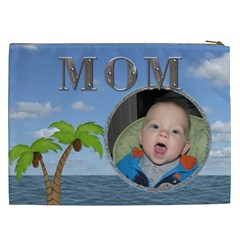 Mom Tropical Xxl Cosmetic Bag By Lil    Cosmetic Bag (xxl)   12g36pj52w4l   Www Artscow Com Back