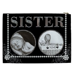 Sister Xxl Cosmetic Bag By Lil    Cosmetic Bag (xxl)   Uxsj2kktgdir   Www Artscow Com Back