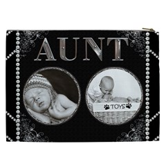 Aunt Xxl Cosmetic Bag By Lil    Cosmetic Bag (xxl)   Ush7wpbygamt   Www Artscow Com Back