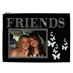 Friends Xxl Cosmetic Bag By Lil    Cosmetic Bag (xxl)   0k9ssk4aflcq   Www Artscow Com Front