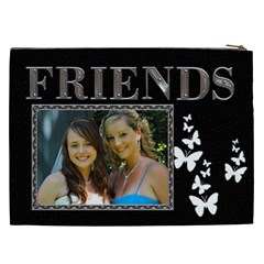 Friends Xxl Cosmetic Bag By Lil    Cosmetic Bag (xxl)   0k9ssk4aflcq   Www Artscow Com Back
