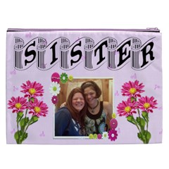 Sister Cosmetic Bag (xxl) 2 Sides By Kim Blair   Cosmetic Bag (xxl)   Trvx0ke6c73b   Www Artscow Com Back