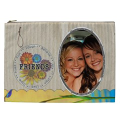 Friends Xxl Cosmetic Bag By Lil    Cosmetic Bag (xxl)   5sojndz5376j   Www Artscow Com Front