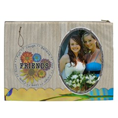 Friends Xxl Cosmetic Bag By Lil    Cosmetic Bag (xxl)   5sojndz5376j   Www Artscow Com Back