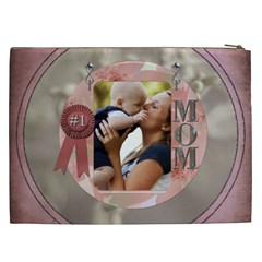 Number 1 Mom Xxl Cosmetic Bag By Lil    Cosmetic Bag (xxl)   Egamkp6bg5if   Www Artscow Com Back