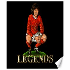 George Best Canvas 8  x 10  by OurInspiration