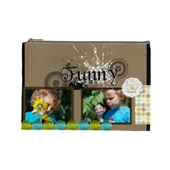 Funny By Jacob   Cosmetic Bag (large)   9o6uiid310bd   Www Artscow Com Front