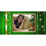 Our Merry Christmas 3D Card - Merry Xmas 3D Greeting Card (8x4)