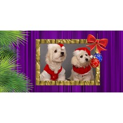 It Is A Merry Christmas 3d Card By Deborah   Merry Xmas 3d Greeting Card (8x4)   Uerjal0rq61w   Www Artscow Com Front