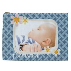 Flower By Joely   Cosmetic Bag (xxl)   Z5z39w69pkok   Www Artscow Com Front