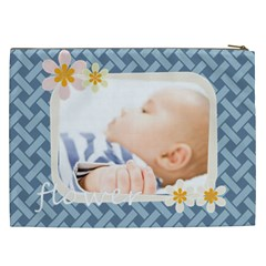 Flower By Joely   Cosmetic Bag (xxl)   Z5z39w69pkok   Www Artscow Com Back