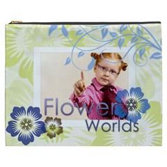 Flwoer By Joely   Cosmetic Bag (xxxl)   98jd1iyhkfrl   Www Artscow Com Front