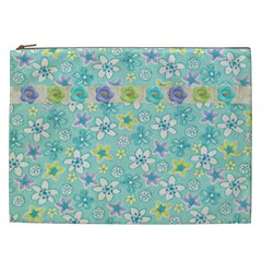 Cosmetic Bag Xxl Magic Flower By Deca   Cosmetic Bag (xxl)   Pybe35k02ehq   Www Artscow Com Front