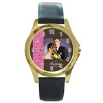 wedding - Round Gold Metal Watch