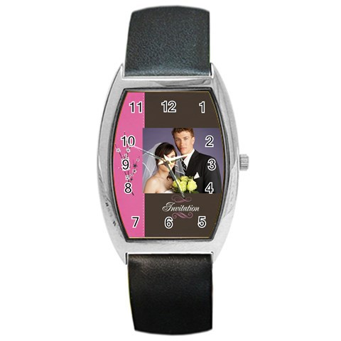Wedding By Jacob   Barrel Style Metal Watch   Ka3z53jz5ful   Www Artscow Com Front