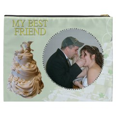 Our Wedding Cosmetic Bag (xxxl) 2 Sides By Kim Blair   Cosmetic Bag (xxxl)   Lw0r7jj0exm1   Www Artscow Com Back