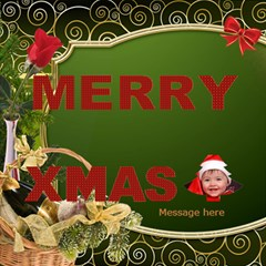 Merry Christmas 3d Card By Deborah   Merry Xmas 3d Greeting Card (8x4)   4g8vyox2edor   Www Artscow Com Inside