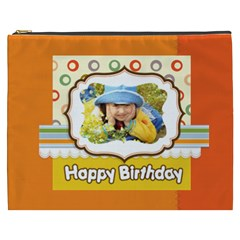 Happy Birthday By Divad Brown   Cosmetic Bag (xxxl)   Rmd8itwimva4   Www Artscow Com Front