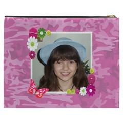 Pink Camo Cosmetic Bag (xxxl) 2 Sides By Kim Blair   Cosmetic Bag (xxxl)   Bma66mhpputs   Www Artscow Com Back