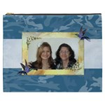 Blue Camo Cosmetic Bag (XXXL)