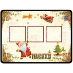 Merry Christmas Extra Large Fleece Blanket - Fleece Blanket (Extra Large)