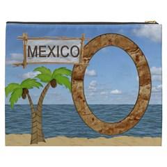 Mexico Xxxl Cosmetic Bag By Lil    Cosmetic Bag (xxxl)   Yfr6z36aplhv   Www Artscow Com Back