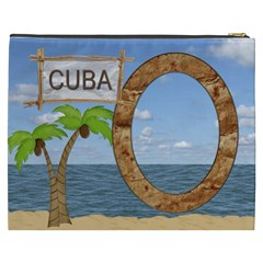 Cuba Xxxl Cosmetic Bag By Lil    Cosmetic Bag (xxxl)   Yu8n0nw44jq5   Www Artscow Com Back