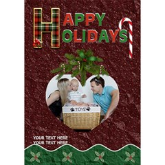 Happy Holidays 7x5 3d Card By Lil    Heart Bottom 3d Greeting Card (7x5)   C43mkn33wa4k   Www Artscow Com Inside